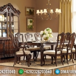 Meja Makan Mewah Jati Natural Rosewood Color Furniture Jepara MMJ-0411