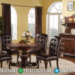 New Design Meja Makan Jati Jepara Natural Classic Furniture Jepara MMJ-0415