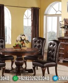 New Design Meja Makan Jati Jepara Natural Classic Furniture Jepara MMJ-0415