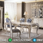 New Furniture Jepara Meja Makan Mewah Snow White Glossy MMJ-0402