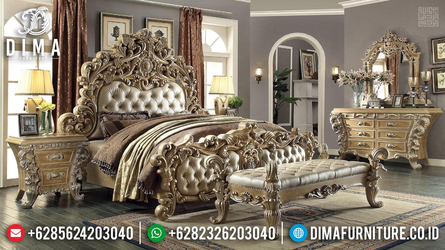New Item Kamar Set Mewah Ukiran Classic Luxury Royal Furniture Jepara MMJ-0436