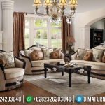 New Sofa Tamu Mewah Natural Jati Classic Salak Brown MMJ-0454