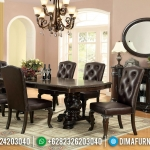 Set Meja Makan Jati 8 Kursi Natural Jati Furniture Jepara MMJ-0409