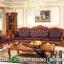 Sofa Tamu Mewah Royal Romanian Natural Jati Furniture Jepara MMJ-0445