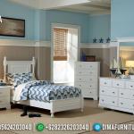 Tempat Tidur Anak Minimalis Jepara Putih Duco Lemari Laci MMJ-0466