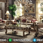 Best Furniture Jepara Sofa Tamu Mewah Donatello Luxury Italian Carving MMJ-0573