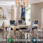 Desain Meja Makan Ukiran Mewah Jepara Konsep Luxury Elegant Furniture MMJ-0533