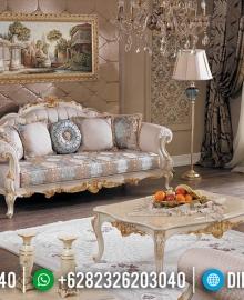 Desain Sofa Tamu Ukiran Jepara Luxury Classic Furniture Jepara Kekinian MMJ-0540