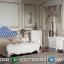 Desain Tempat Tidur Ukiran Mewah Luxury Carving New Putih Duco Jepara MMJ-0570