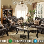 Furniture Jepara Set Sofa Tamu Jati Natural Classic Salak Brown MMJ-0582