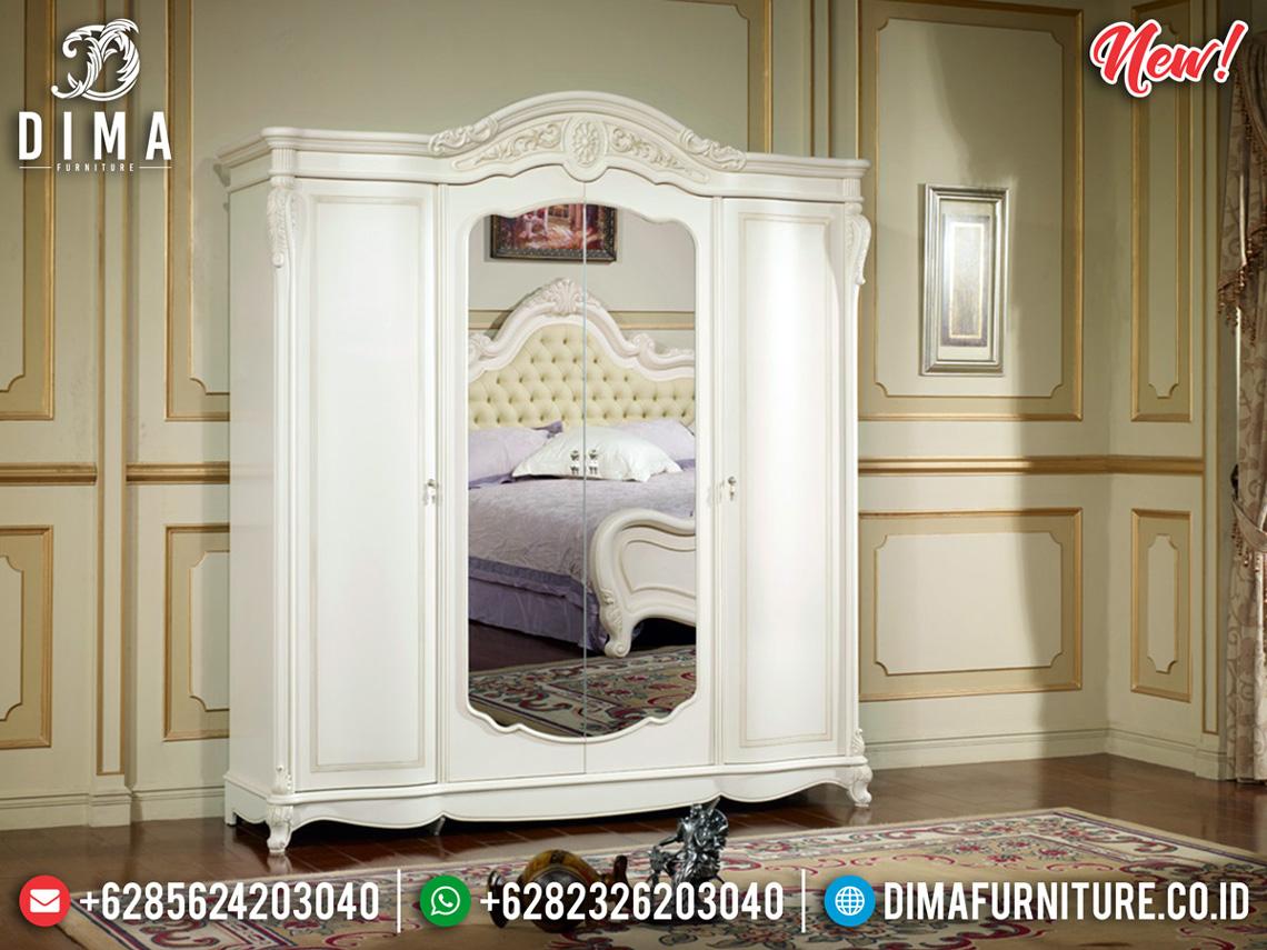 Gambar Lemari Pakaian Kaca Putih Duco New Luxury Design MMJ-0528