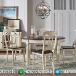 Gambar Meja Makan Bundar 4 Kursi Minimalis Design Classic French Style MMJ-0547