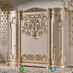 Jual Lemari Pakaian Mewah Ukiran Golden Pure White Base Duco MMJ-0563