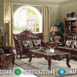 Jual Sofa Tamu Klasik Jati Natural Auburn Color Furniture Jepara MMJ-0580
