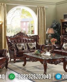 Jual Sofa Tamu Klasik Jati Natural Auburn Color Furniture Jepara MMJ-0580