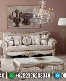 Jual Sofa Tamu Mewah White Duco Luxury Carving Elegant Style MMJ-0541