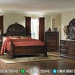 Kamar Set Klasik Ukiran, Tempat Tidur Jepara Mewah, Dipan Ranjang Jati Natural MMJ-0521