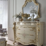 Meja Konsol Ukir Jepara Golden Carving White Based Duco MMJ-0585