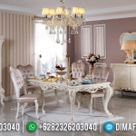 Meja Makan Mewah Queen Style Luxury Carving Furnishing Jepara MMJ-0531