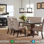 Minimalis Design Set Meja Makan Jepara Classic Natural Kayu Jati MMJ-0497