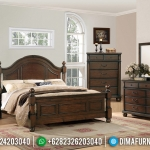 New Design Kamar Set Minimalis Jati Classic Natural Jepara MMJ-0559