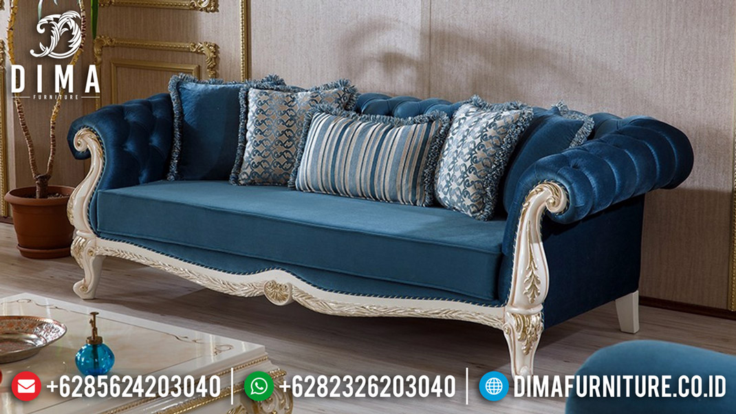 New Kursi Sofa Tamu Ukiran Artistik Classic 3 Dudukan Luxury Jepara MMJ-0575