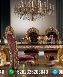 New Meja Makan Mewah Ukiran Jepara Gold Duco Luxury Classic Style MMJ-0511