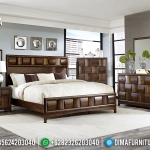 Queen Size Kamar Set Minimalis Klasik Jati Natural Furniture Jepara MMJ-0524