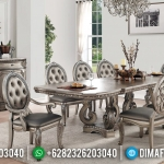 Set Kursi Meja Makan Mewah Champagne Color Luxury Model MMJ-0516