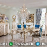 Set Meja Makan Mewah Jepara, Kursi Makan Ukiran Classic, Dining Sets Table Luxury MMJ-0537