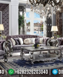 Sofa Tamu Mewah Silver Athena Design Luxury Carving Jepara MMJ-0486