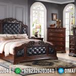 Best Price Tempat Tidur Jati Jepara Natural Classic Oscar Leather MMJ-0613