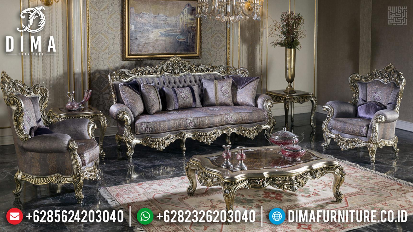 Big Discount Sofa Tamu Mewah Silver Wine Furniture Jepara Terbaru MMJ-0598