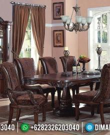 Desain Meja Makan Ukiran Jepara Empire Style Natural Jati Luxury Klasik MMJ-0650