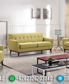 Desain Sofa Tamu Minimalis Modern Jati Natural Interior Inspiration MMJ-0628