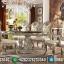 Empire Style Meja Makan Mewah Jepara Ukiran Luxury Royals Classic MMJ-0636