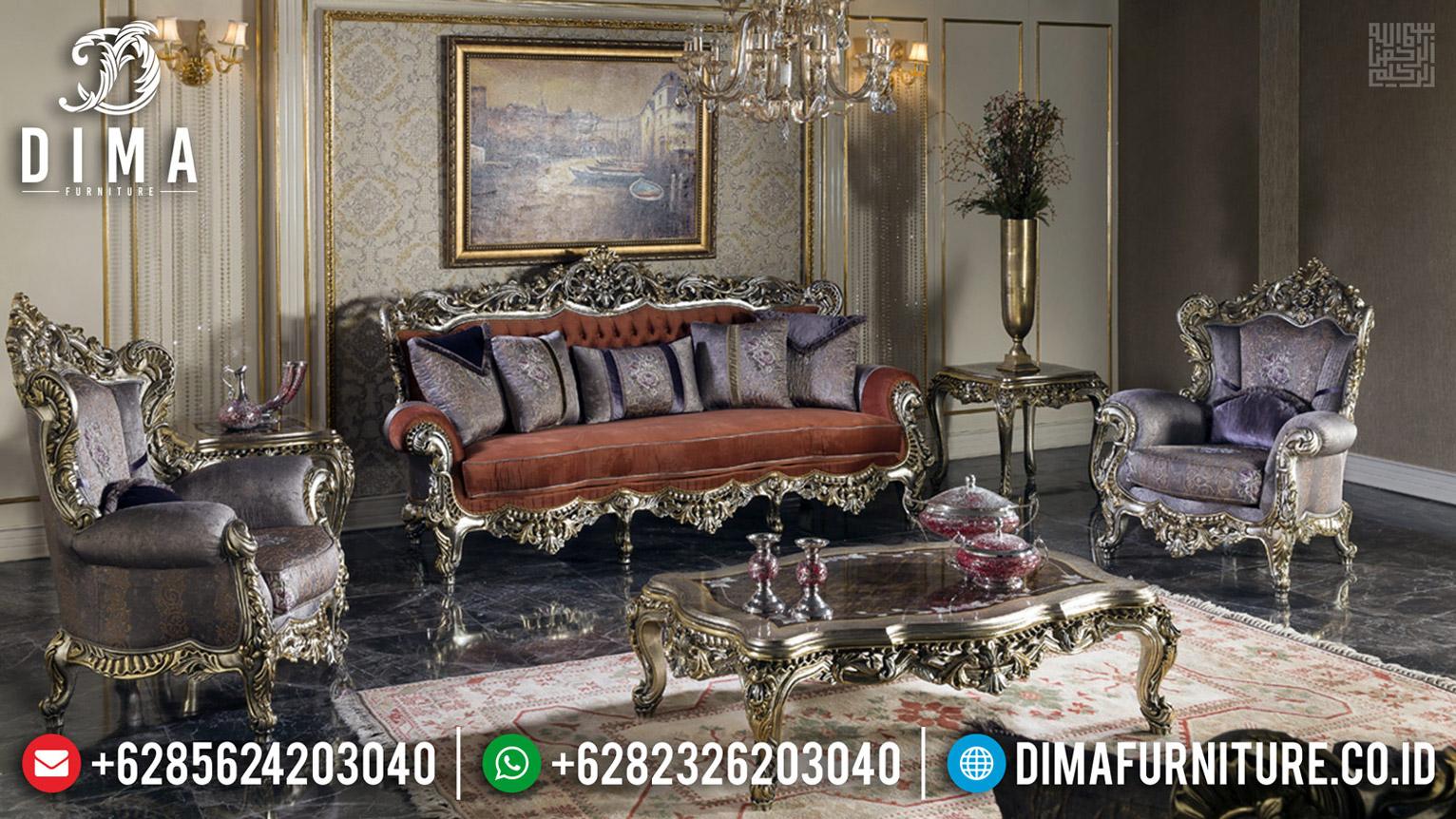 Furniture Jepara Sofa Tamu Mewah Luxury Classic New Design Get Sale MMJ-0597