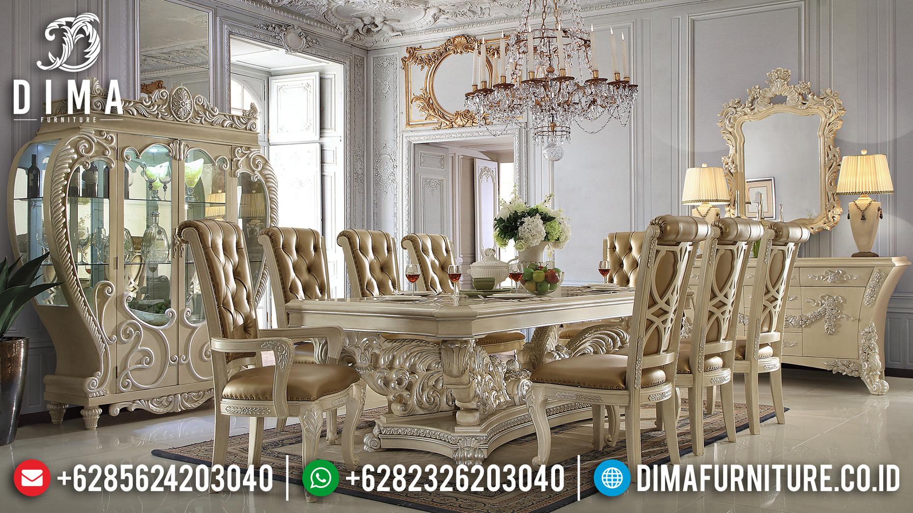 Harga Meja Makan Jepara Luxury Classic Design Ukiran Antique MMJ-0633