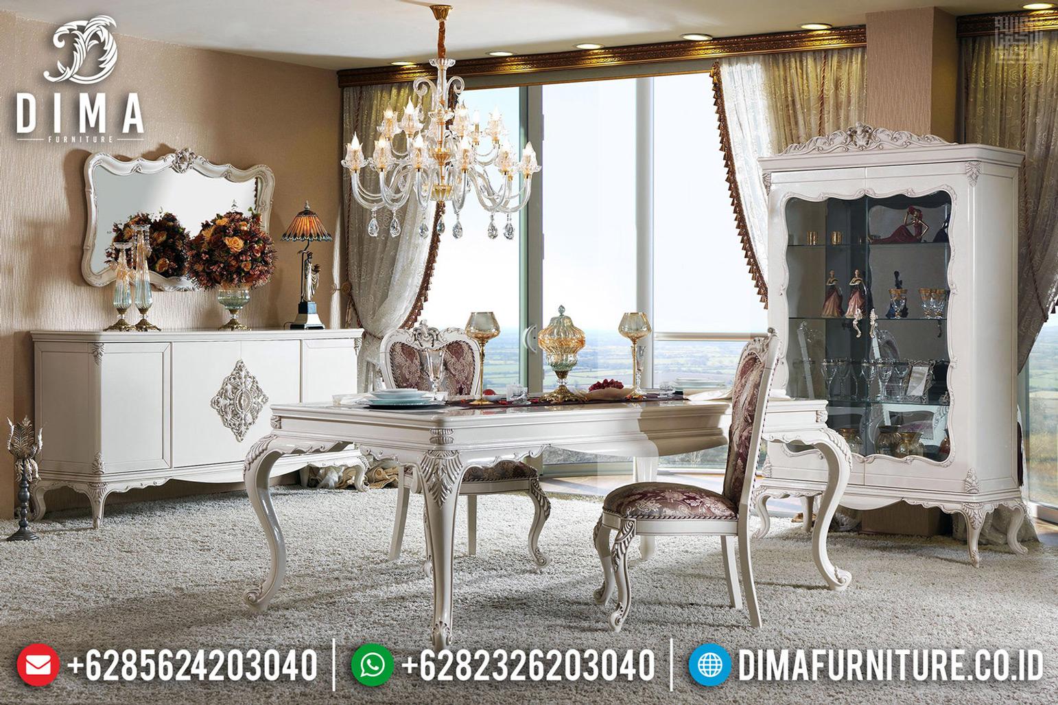 Jual Meja Makan Mewah Jepara Desain Luxury Ukiran Klasik Artistik MMJ-0649