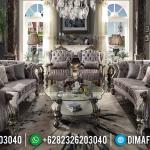 Konsep Ruang Tamu Mewah Sofa Tamu Ukiran Jepara Artistik Luxury Classic MMJ-0640