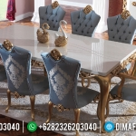 New Meja Makan Mewah Golden Carving Duco Combination Luxury Classic Jepara MMJ-0638