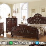 New Model Kamar Set Mewah Jati Natural Luxury Carving Jepara MMJ-0613