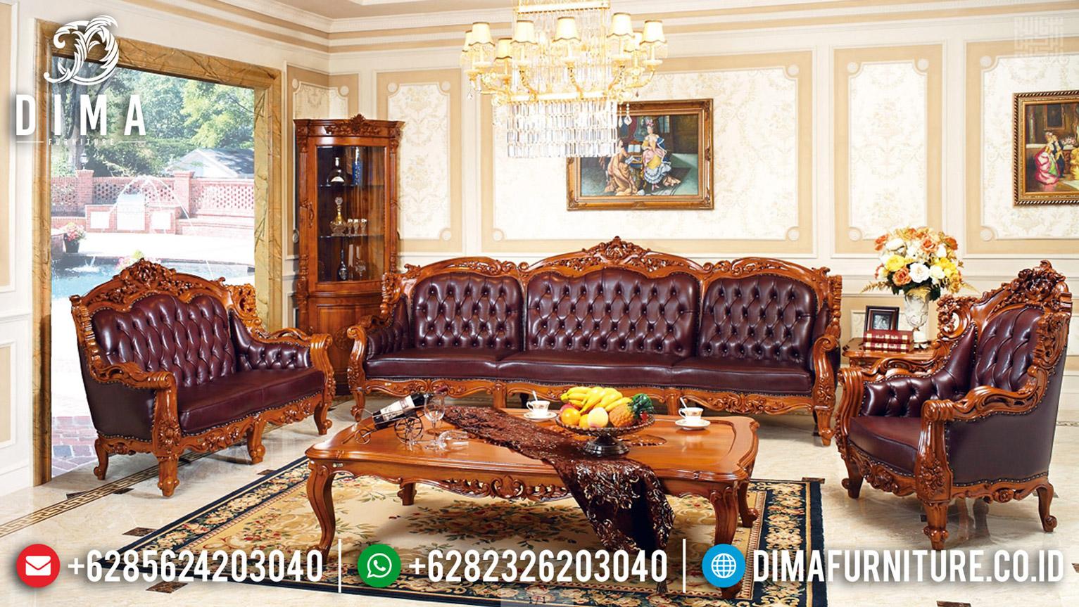 New Sofa Tamu Jati Donatella Natural Classic Auburn Furniture Jepara Antique MMJ-0601