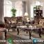Sofa Tamu Mewah Jati Natural Kombinasi Luxury Classic Jepara MMJ-0602