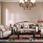 Sofa Tamu Mewah Ukiran Natural Salak Brown Classic Furniture Jepara MMJ-0591
