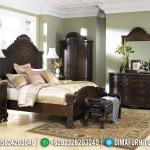 Harga Tempat Tidur Minimalis Jati Klasik Natural Auburn Color Semi Glossy MMJ-0685