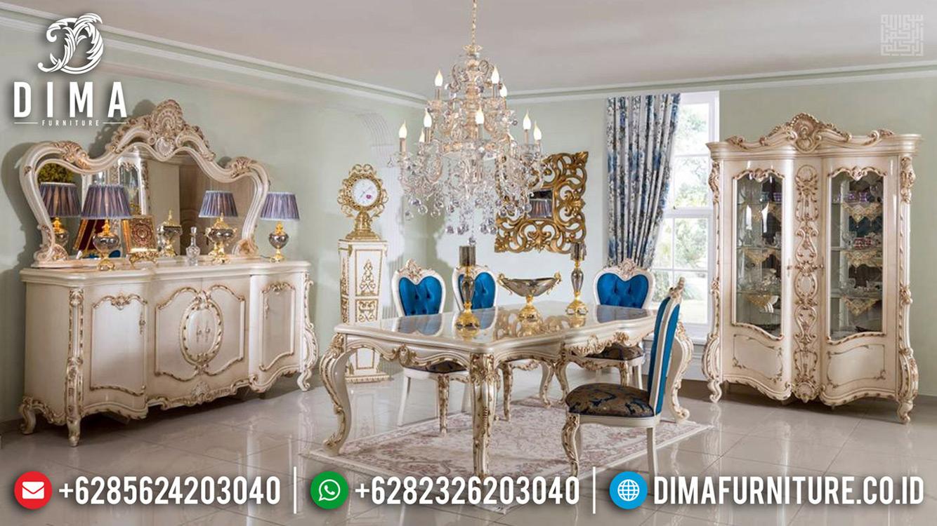 Set Kursi Meja Makan Mewah Ukiran Luxury Klasik Promo Berkah Ramadhan MMJ-0680