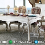 Set Meja Makan Mewah Luxury Carving Furniture Jepara Elegant Design MMJ-0664
