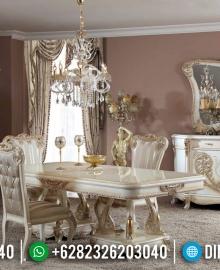 Set Meja Makan Mewah Terbaru Luxurious Ukiran Antique Jepara Harga Murah MMJ-0675