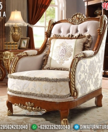 Absolute Sofa Tamu Mewah Single Seater Luxury Carving New 2020 Design MMJ-0813